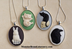 Cute Animal Cameo Necklaces by MonsterBrandCrafts