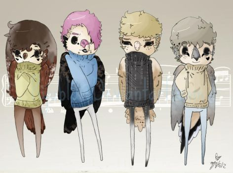 Cages -- Main Cast in Sweaters by RyuBlu