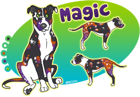 x_. Magic the Pit Bull by srspibble