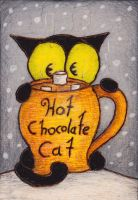 Hot chocolate cat by Darkcloudsabout