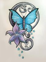Lily butterfly combo by josephine76