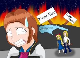 Hans get terrorized XD by HeroHeart001