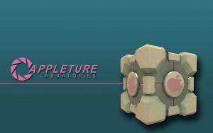 Apple Companion Cube Wallpaper by LindsayCookie