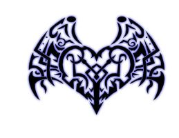 tribal heart with wings by JMNMB