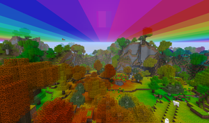Minecraft Double Rainbow by LockRikard
