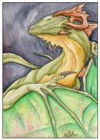Watercolor dragon 11 by mythori