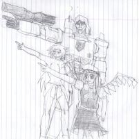 Megatron Shion and Flandre by crotafang