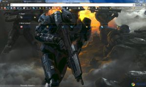 Halo Reach Firefight Chrome Theme by bobofawesome