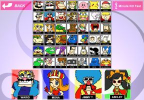 Dream Smash Bros. Roster by HoppyBadBunny