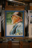 WIP of The General (watercolour) by NorthumbrianArtist