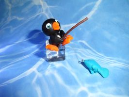 Penguin Fishing by Devaly