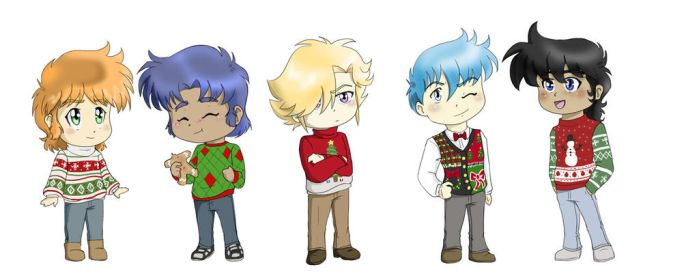 Ugly Christmas Sweater Chibis by Ty-Chou