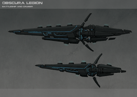 Obscura legion Ships by Athalai-Haust