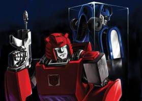 Cliffjumper and Mirage by dahin