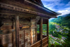 Temple with a view by Shenanigans-in-Japan