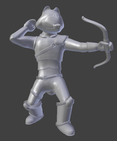 Raccoon Archer Model by SenseiRedPanda
