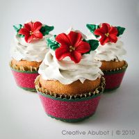 Xmas Flower Faux Cupcake 03 by CreativeAbubot