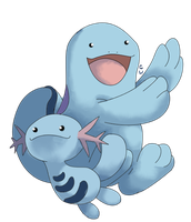 Wooper Evolution Line by CherubimonX