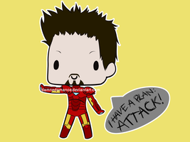 Iron Man Super Chibi by DamnedRomance