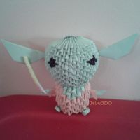 3D Origami - Chibi Yoda (Star Wars) by Jobe3DO