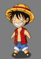 Chibi-Luffy by Lhugion