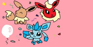 Eevee Party by ZoruaAWESOME