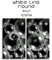 White Line Round MIUI Icons v.2 (Updated 2-21) by vanessaem