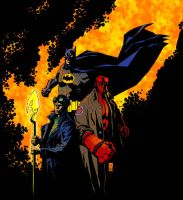 Hellboy Starman Batman colors by RCarter
