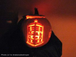 TARDIS Pumpkin by drakenadestroyer