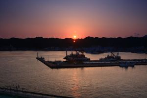 Sunset on the Tuna Boats by cplcrud