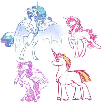 Nextgen Doodles for Claire-Cooper by MythPony