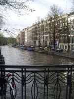 Amsterdam houses by barefootliam