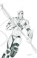 X-O Manowar 2 of 3 Variant Cover Inked by CliffEngland