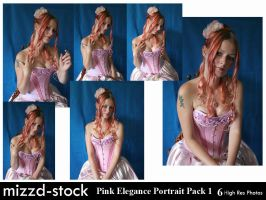 Pink Elegance Portrait Pack 1 by mizzd-stock