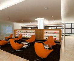 Library Design - Cafe area by longbow0508