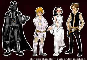 Original trilogy SW fanart by Exeivier