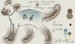 Arven reference sheet by SpitfiresOnIce