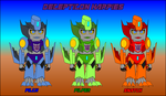 Chibi Filch and Harpies cardmodel colortest sheet by Masamune-Washington