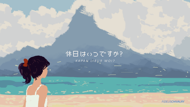Painting vacation by mochiFayy