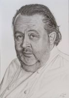 Chef Julius Jaspers Portrait Drawing by GTracerRens