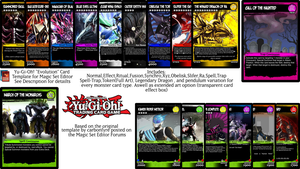 Yu-Gi-Oh ''Evolution'' Magic Set Editor Template by monyarm