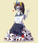 Vriska + A Completely Necessary Pile of Skulls by mate2priit