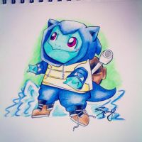 Squirtle in a blastoise onsie by cinnamonquibble
