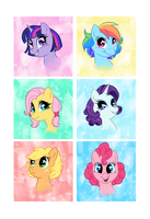 Short Hair Ponies by C-Puff