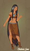 Fighter Pocahontas by ScenePika