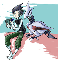 Nejiki and his Fat Birdy by denkimouse