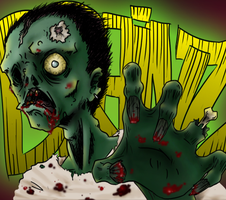 Zombie Ilustration by Cassaa