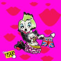 Punk Rock Pin Up by after-the-funeral