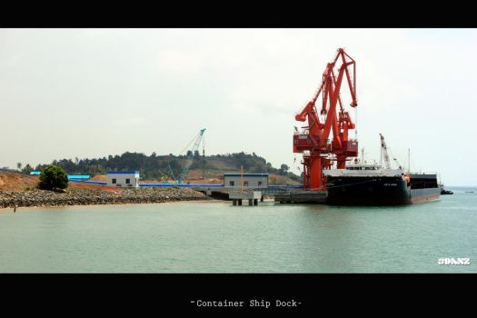 Container Ship Dock by danislaper
