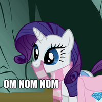 Rarity GIF- Om Nom Nom by SunnStamp